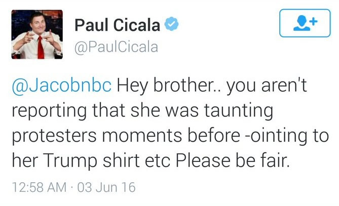 Paul Cicala's Original Tweet